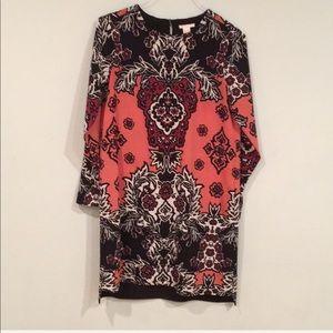 H&M | Coral Floral Shirt Dress Size 6 NWOT